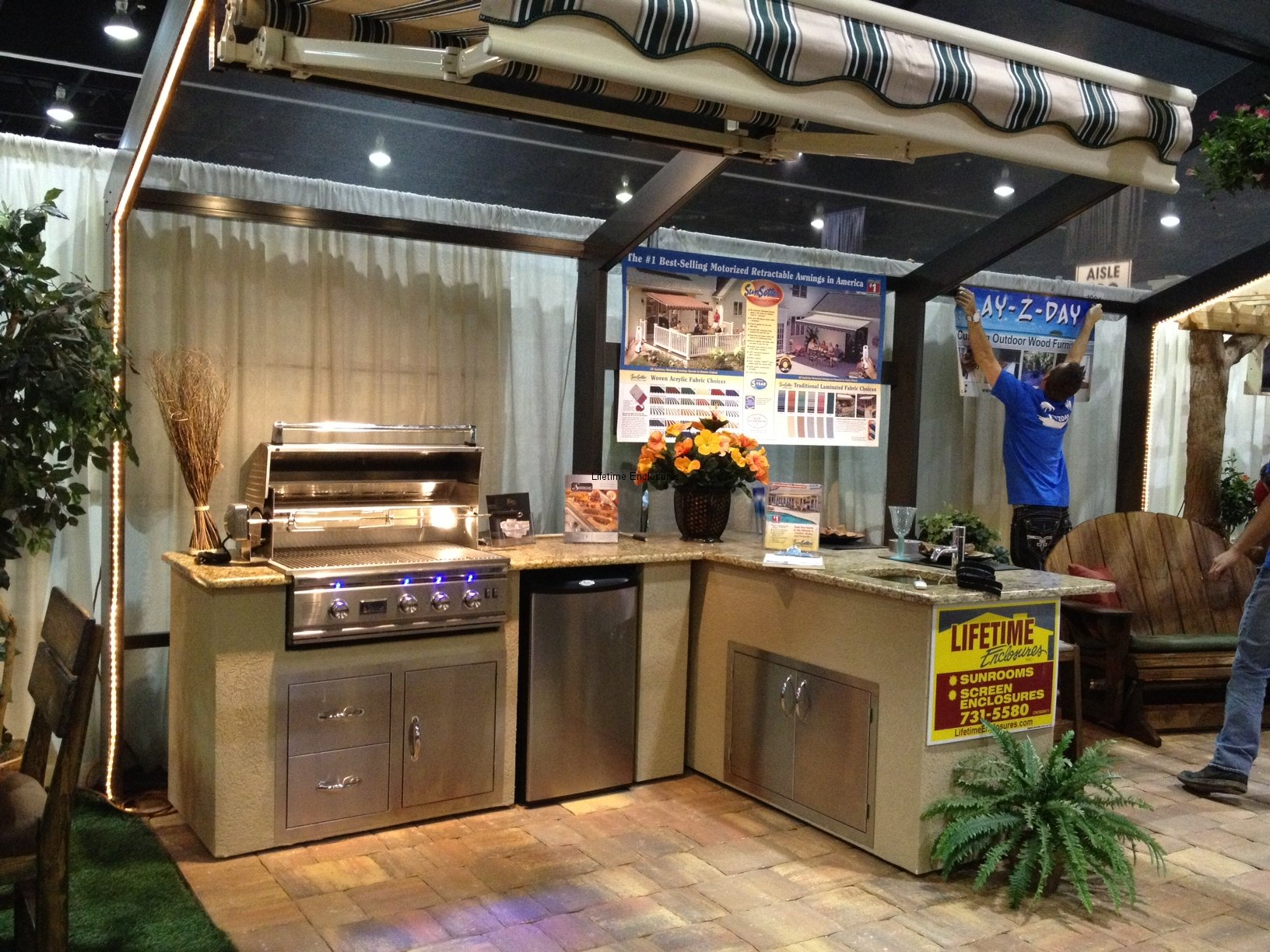 Outdoor kitchens lifetime enclosures for Outdoor kitchen designs orlando
