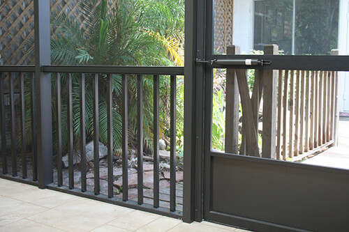 integrated railing