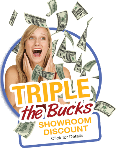Triple the Bucks Showroom Discount Logo