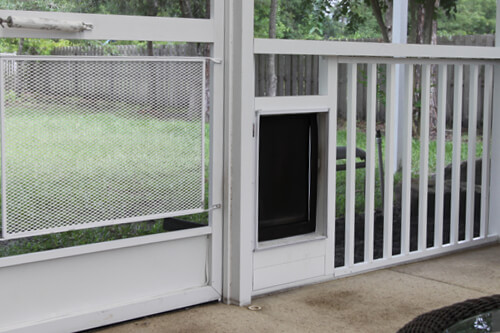 Pet Door Screen Enclosure