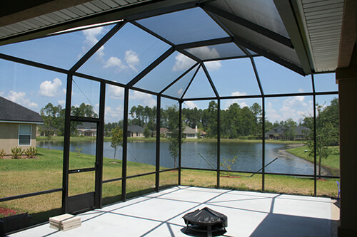 Screened roof Screen Enclosure