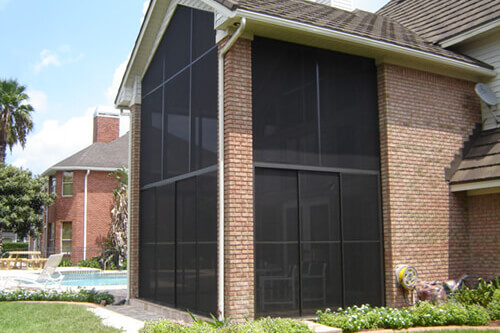 Sliding Door Screen Enclosure